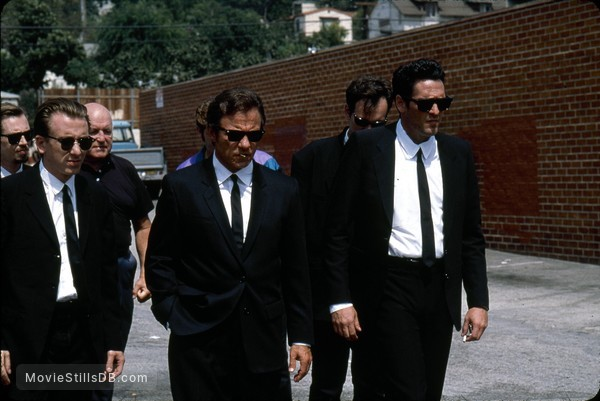 Reservoir Dogs - Publicity still of Tim Roth, Harvey Keitel, Michael Madsen & Steve Buscemi
