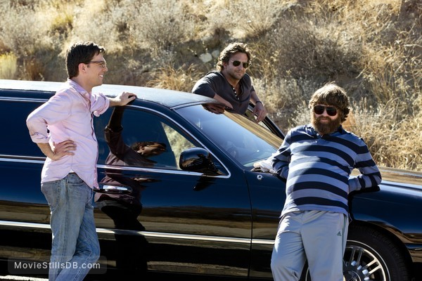 The Hangover Part III - Publicity still of Bradley Cooper, Zach Galifianakis & Ed Helms