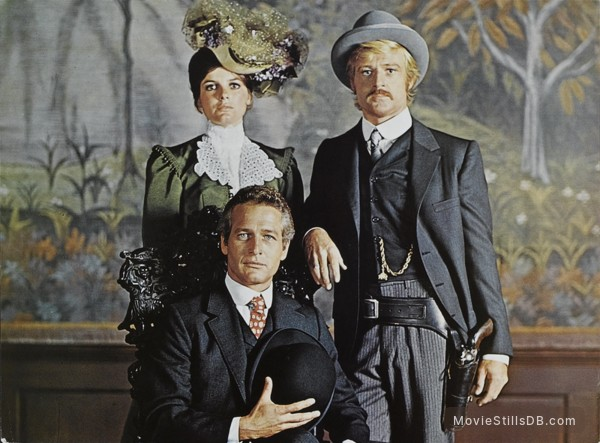 Butch Cassidy and the Sundance Kid - Publicity still of Paul Newman, Robert Redford & Katharine Ross