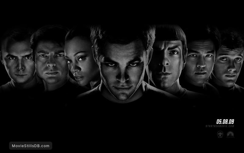 Star Trek - Wallpaper with Zachary Quinto, Chris Pine, Karl Urban, Zoe Saldana, Simon Pegg, John Cho & Anton Yelchin