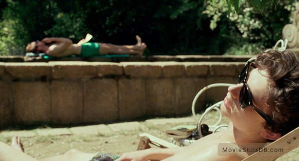 Call Me by Your Name - Publicity still of Timothée Chalamet & Armie Hammer