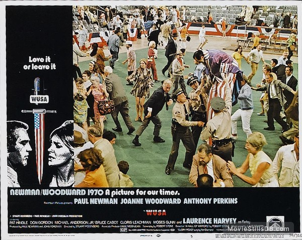 WUSA - Lobby card with Paul Newman & Joanne Woodward