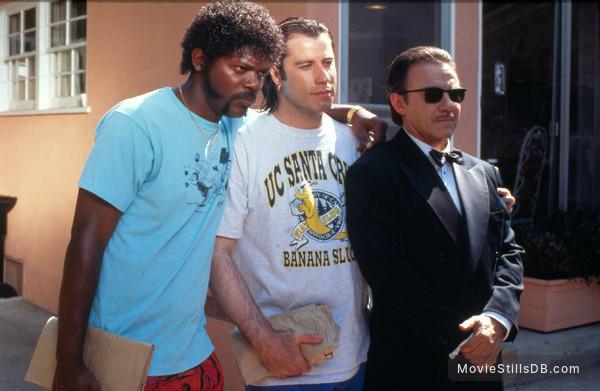 Pulp Fiction - Publicity still of Samuel L. Jackson, John Travolta & Harvey Keitel