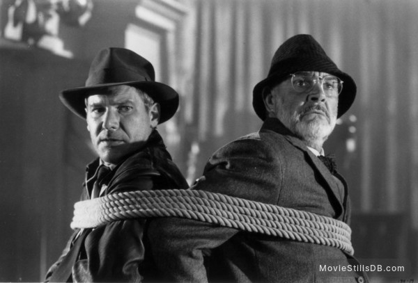 Indiana Jones and the Last Crusade - Publicity still of Harrison Ford & Sean Connery