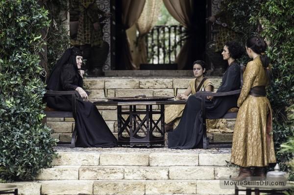 Game of Thrones - Publicity still of Indira Varma, Jessica Henwick & Diana Rigg