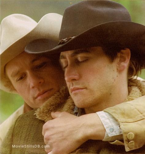 Brokeback Mountain - Publicity still of Heath Ledger & Jake Gyllenhaal