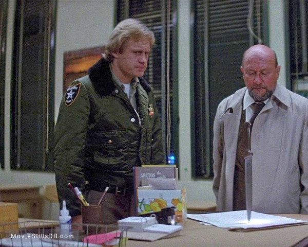 Halloween II - Publicity still of Donald Pleasence & Hunter von Leer