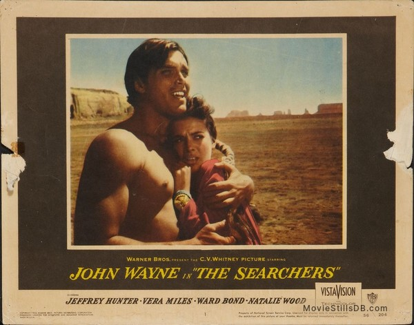 The Searchers - Lobby card with Jeffrey Hunter & Natalie Wood