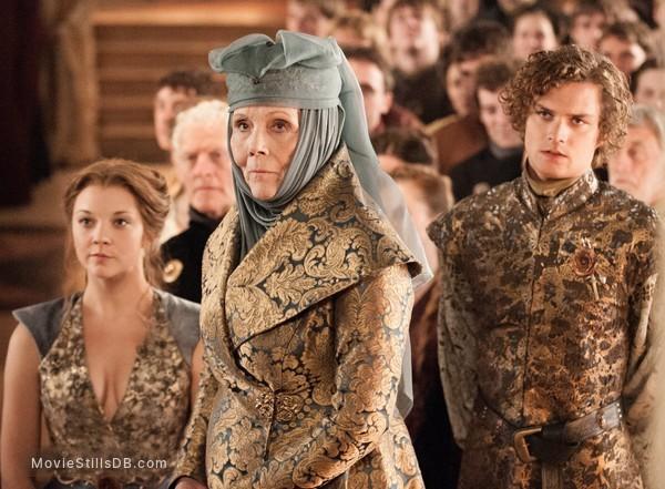 Game of Thrones - Publicity still of Natalie Dormer, Diana Rigg & Finn Jones