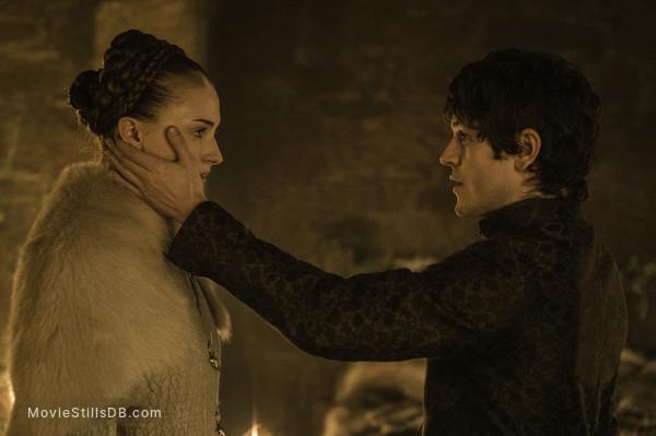 Game of Thrones - Publicity still of Sophie Turner & Iwan Rheon